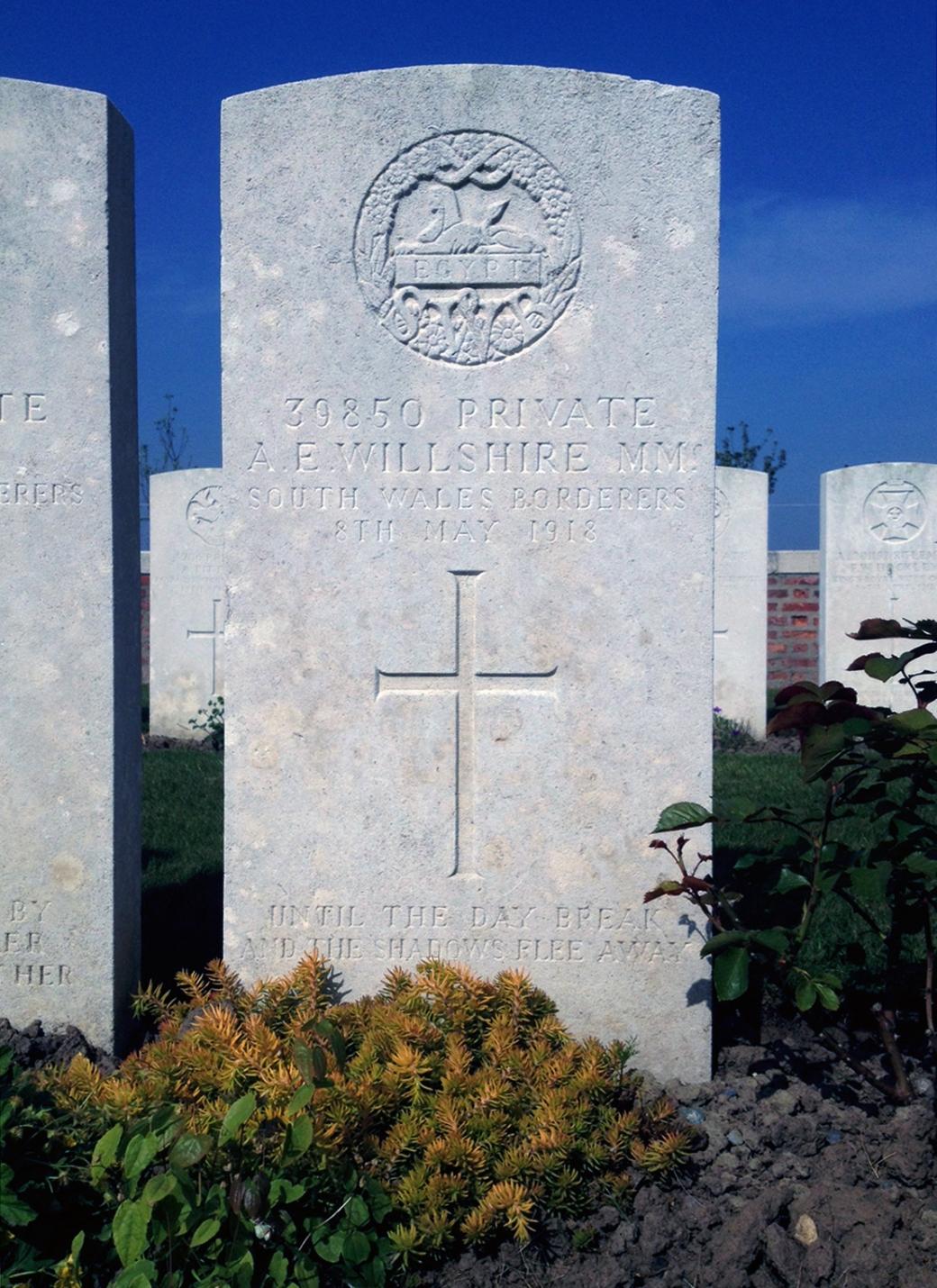 Nine Elms - Willshire headstone