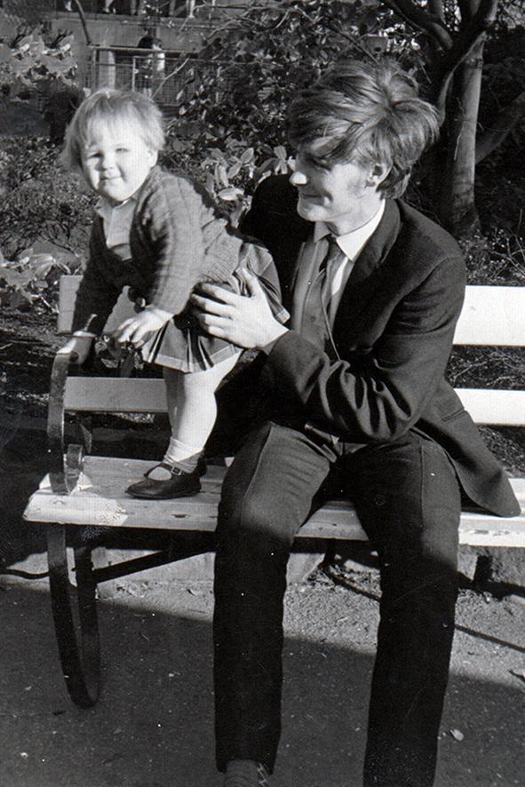 Mandy and dad at Bristol Zoo