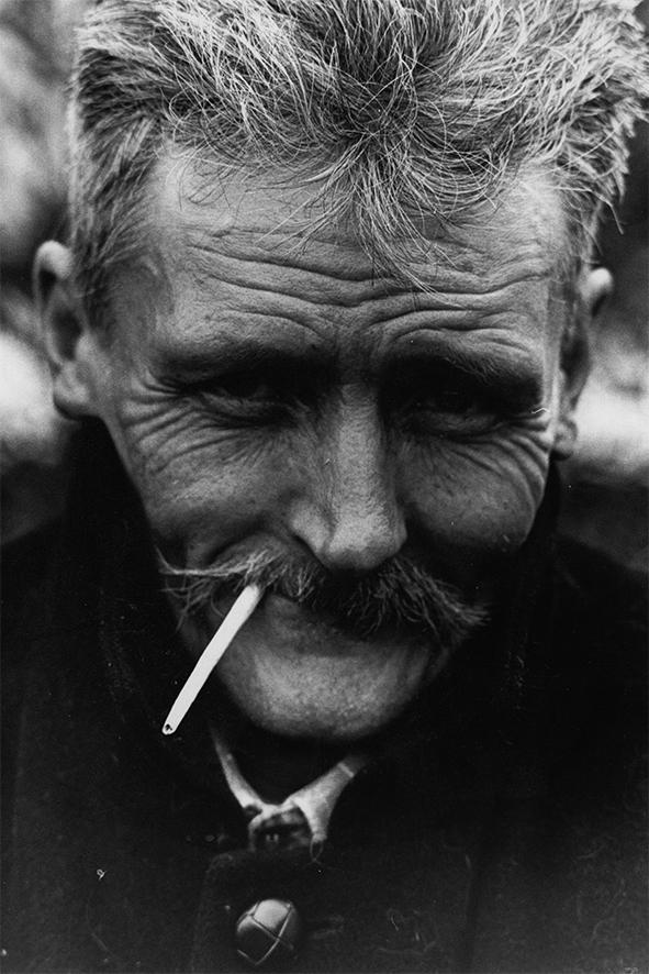 with cigarette