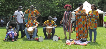 MF African drummers group