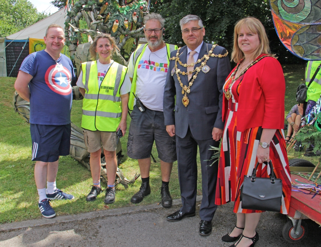 MF organisers with Newport Mayor and Mayoress