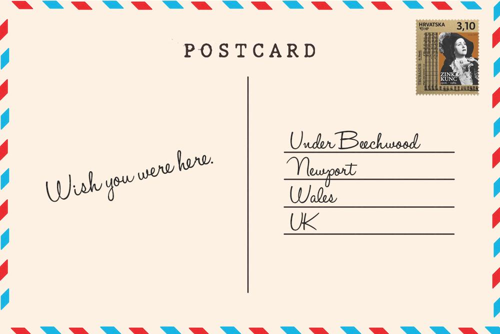 Pula postcard back
