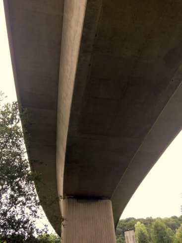 under motorway sliproad