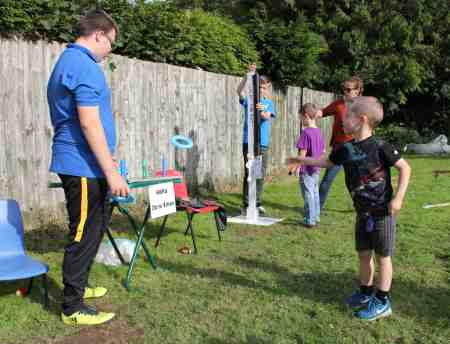 Malpas 25th Scouts Fete 2017 - playing Hoopla