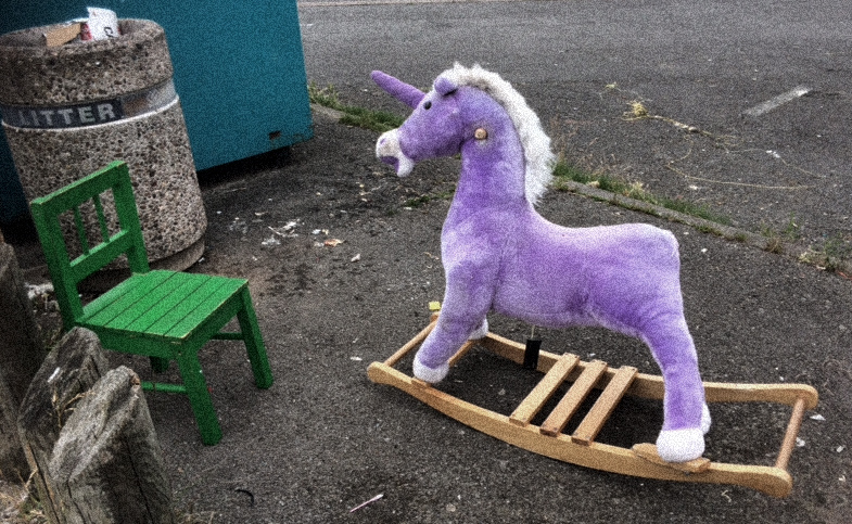 Rubbish - chair and rocking horse 1