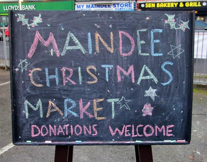 Maindee Xmas Market - chalk and blackboard