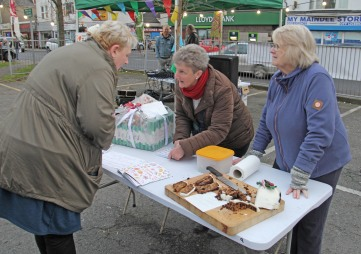 Maindee Xmas Market - Christmas cake stall