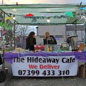 Maindee Xmas Market - Hideaway Cafe stall