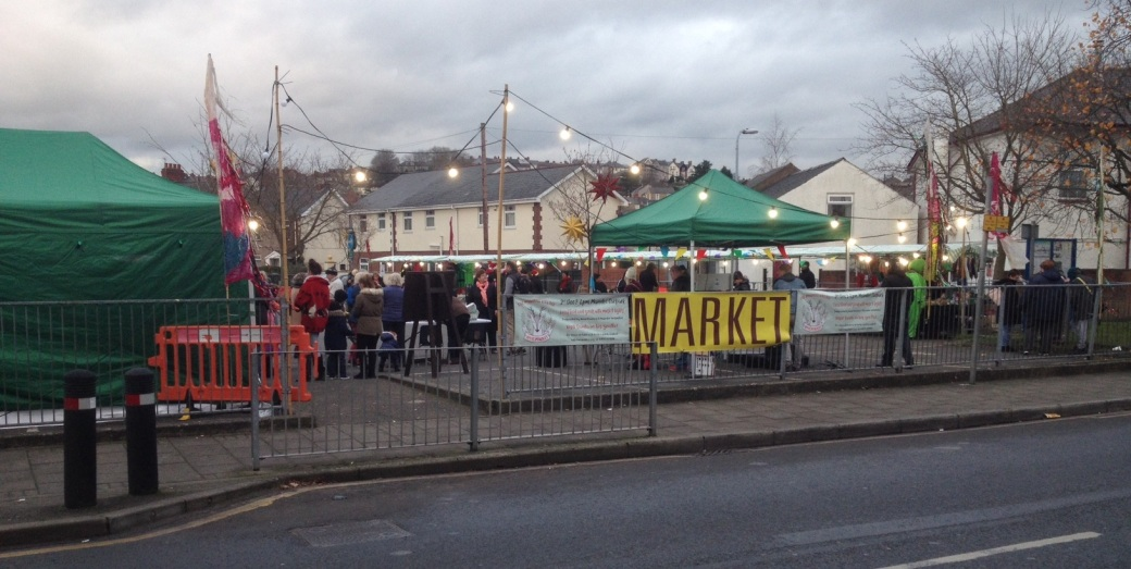 Maindee Xmas Market - site from road
