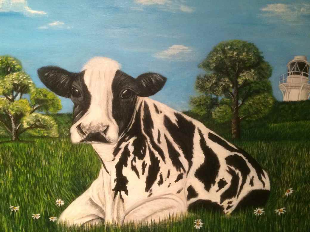 Ellie Tutton - A Cow at the Wetlands