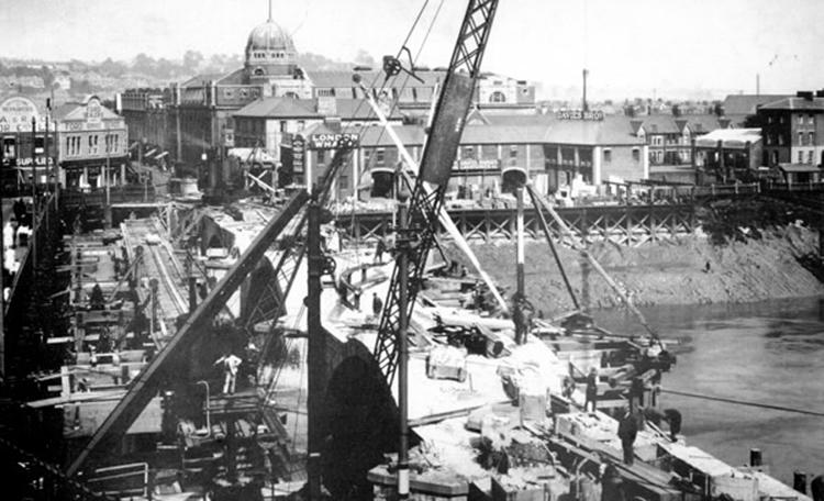 Newport Town Bridge - 2nd construction