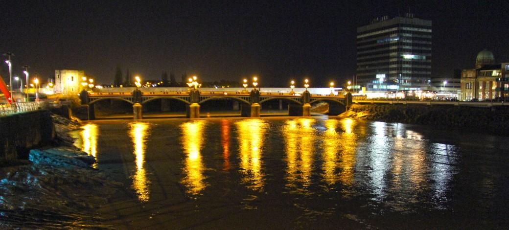 Newport Town Bridge - at night