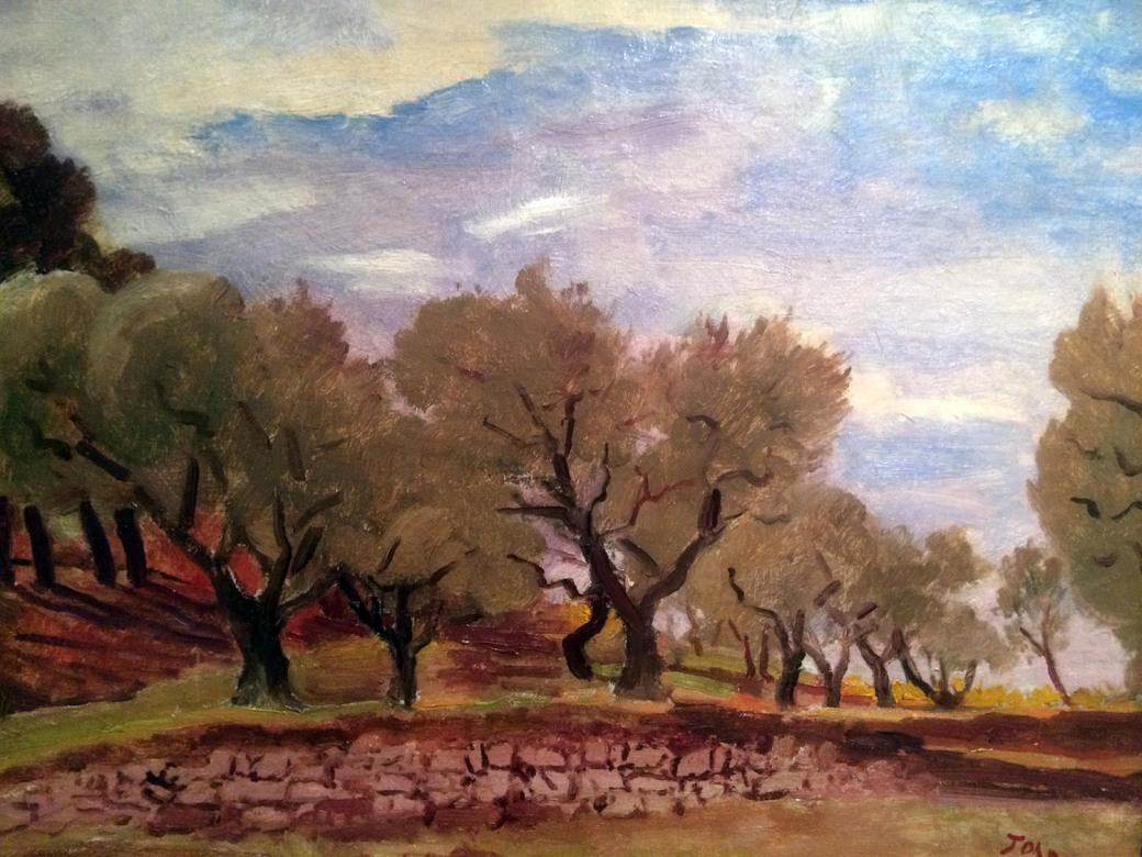 J - Augustus John R.A. - Provencal Landscape