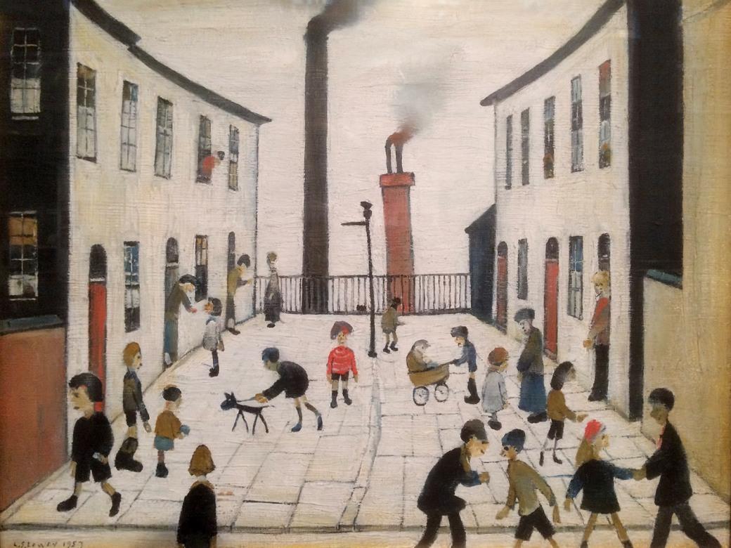 L - L.S. Lowry R.A. - Francis Street, Salford