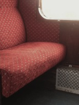 P and B Railway - carriage seat