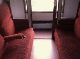 P and B Railway - compartment seating