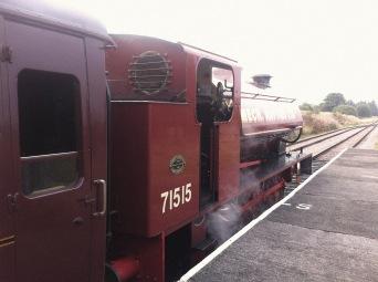 P and B Railway - engine back