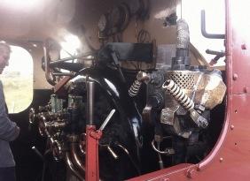 P and B Railway - engine cab