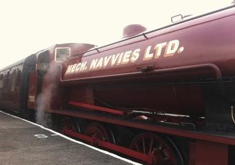 P and B Railway - engine side
