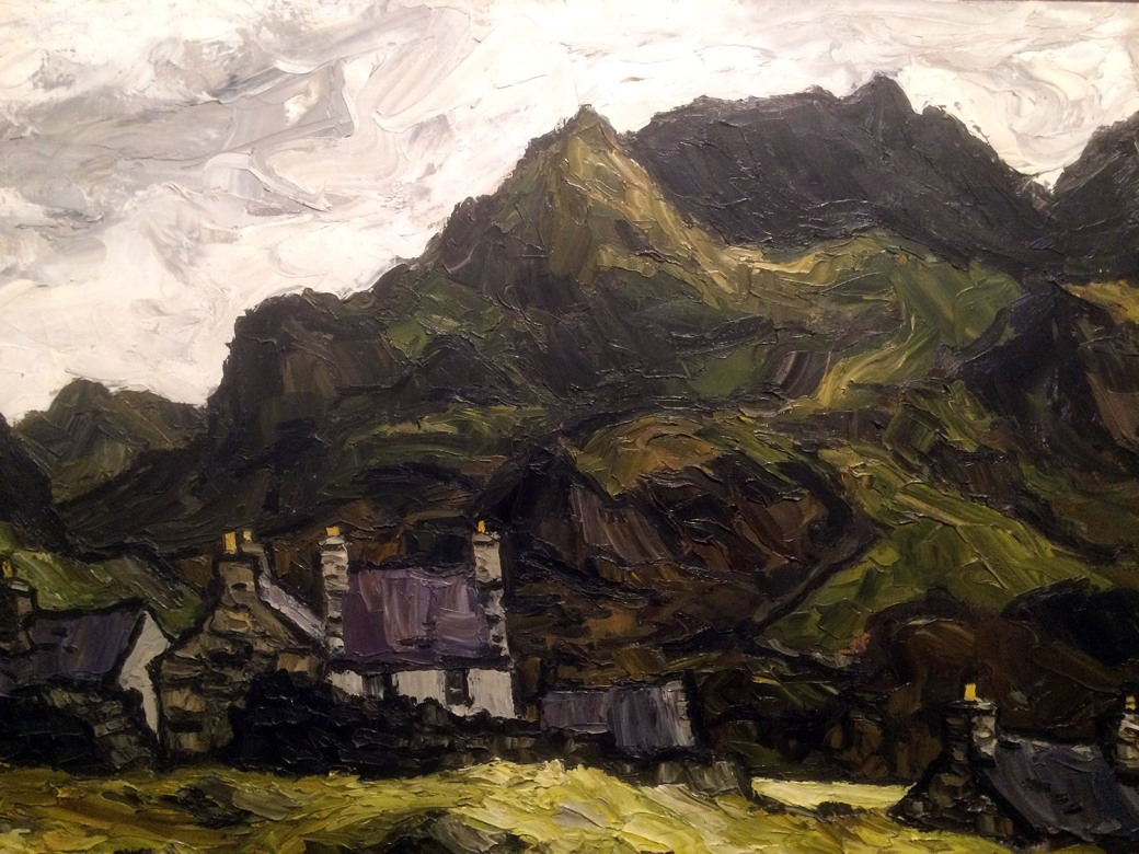 W - Kyffin Williams R.A. - Crib Coch and Llanberis Pass