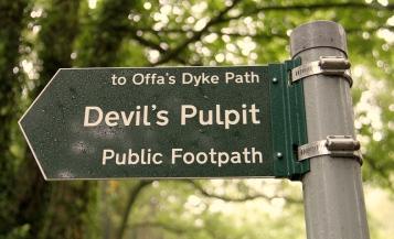 Devils pulplit sign