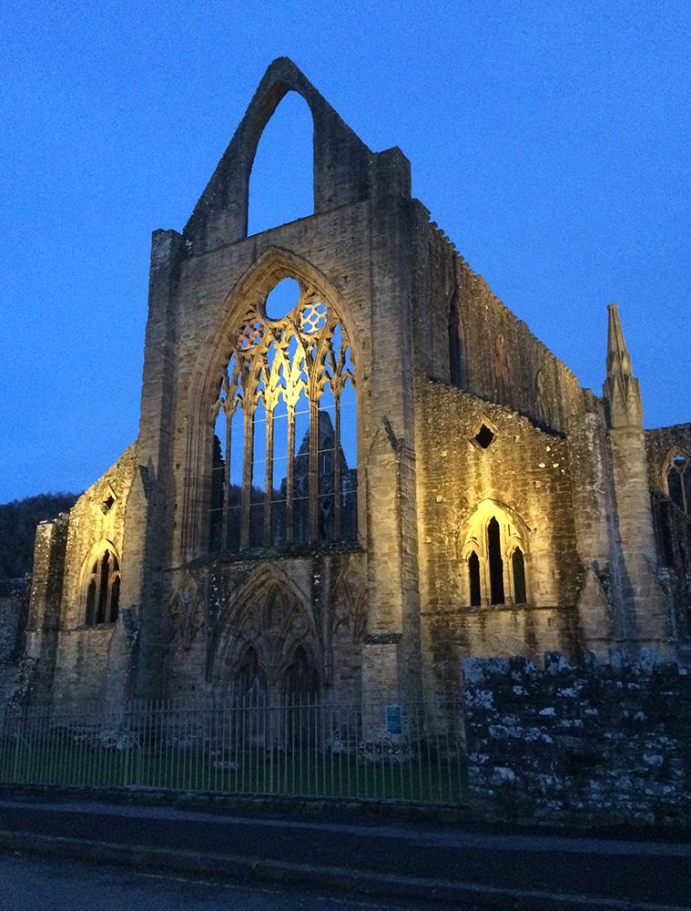 Tintern Abbey at night - tall