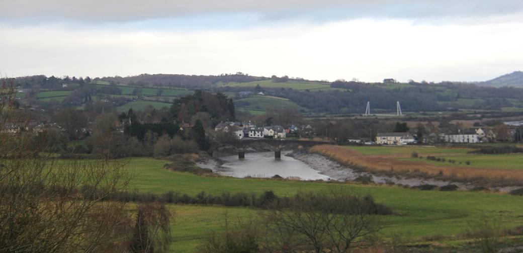 caerleon bridge - in distance
