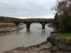 caerleon bridge - river usk
