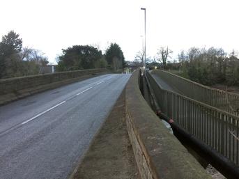 caerleon bridge - road and footpath