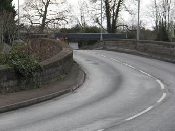 caerleon bridge - sweeping road