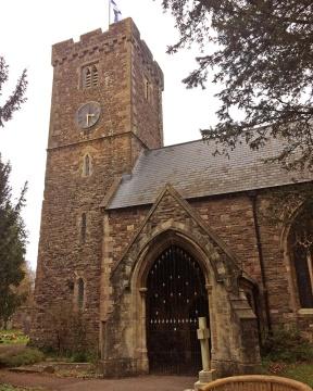 St Cadoc's Church - entrance