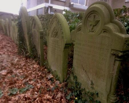 St Cadoc's Church - line of headstones