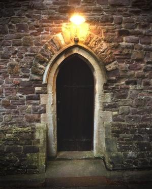 St Cadoc's Church - small door