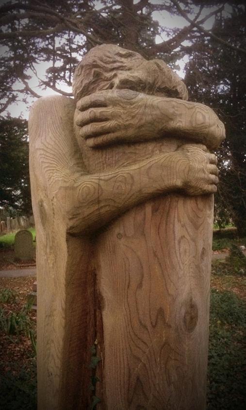 St Cadoc's Church - wood sculpture